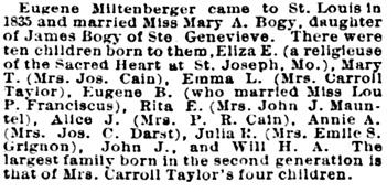 St. Louis Post-Dispatch (St. Louis, Missouri), November 27, 1887, page 12, column 4.
