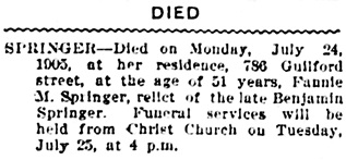 Vancouver Daily World, July 24, 1905, page 2, column 4.