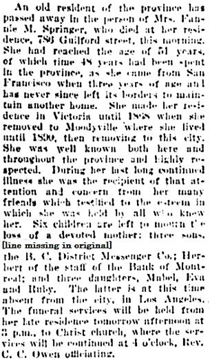 Vancouver Daily World, July 24, 1905, page 9, columns 4-5 [best available copy].