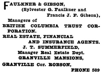 Henderson's City of Vancouver Directory, 1908, page 558.