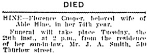 Vancouver Daily World, August 28, 1905, page 5, column 1.