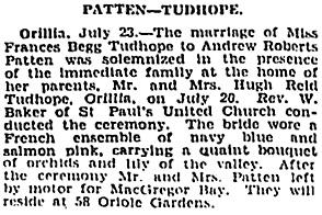 Toronto Globe, July 24, 1929, page 18, columns 4-5.