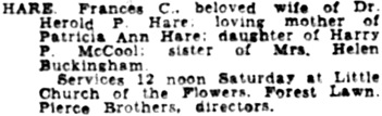 The Los Angeles Times, December 21, 1944, page 19, column 5.