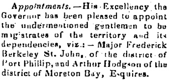 Geelong Advertiser, July 10, 1841, page 2; column 5; https://trove.nla.gov.au/newspaper/article/92674091.