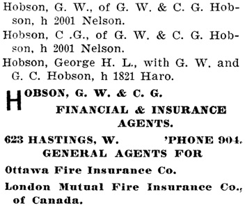 Henderson's BC Gazetteer and Directory, 1903, page 707 (selected portions).