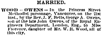 Vancouver Daily World, June 23, 1890, page 4, column 1.