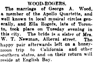 Vancouver Daily World, July 8, 1908, page 12, columns 6-7.