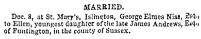Lloyd's Weekly Newspaper (London, England), December 16, 1849, page 12, column 5.