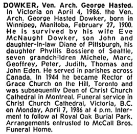 The Gazette (Montreal), April 8, 1986, page 31, column 1.