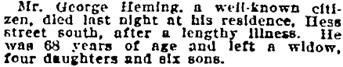 Toronto Globe, June 5, 1901, page 4, column 3.