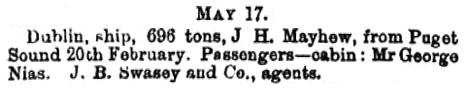 Leader (Melbourne, Victoria, Australia), May 18, 1867, page 14, column 1; https://trove.nla.gov.au/newspaper/article/196632628.