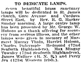 Vancouver Daily World, September 18, 1920, page 3, column 4.