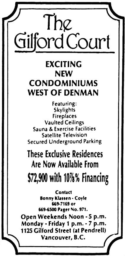 Vancouver Sun, June 1, 1984, page 38, columns 9-10.