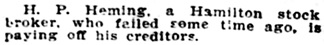 The Buffalo Times (Buffalo, New York), February 13, 1909, page 2, column 2.