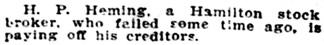 The Buffalo Times (Buffalo, New York), February 13, 1909, page 2, column 2.