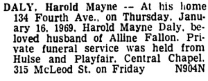 Ottawa Citizen, January 17, 1969, page 36, column 2.