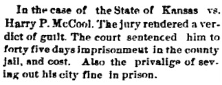 Echo-Advocate (Coldwater, Kansas); March 12, 1892, page 4, column 2.
