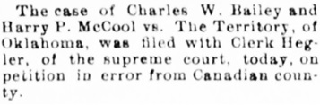 The Guthrie Daily Leader (Guthrie, Oklahoma), December 9, 1898, page 4, column 2.