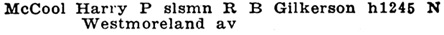 Los Angeles, City Directory, 1924, page 1492, column 3 [edited image].