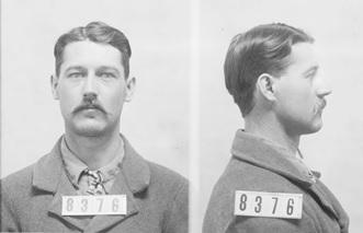 Harry Plummer McCool, prisoner 8376; Kansas State Penitentiary, February 18, 1901; Kansas Historical Society; http://www.kansasmemory.org/item/311360. [This photograph shows inmate Harry Plummer McCool, prisoner #8376 . . .. Harry Plummer McCool was received at the Kansas State Penitentiary on December 18, 1897 from Canadian County, Oklahoma for larceny of domestic animals.]