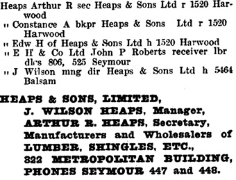 Henderson's Greater Vancouver Directory, 1922, page 746.