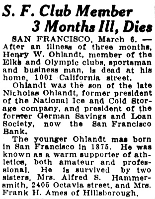 Oakland Tribune, March 6, 1928, page 19, column 4.