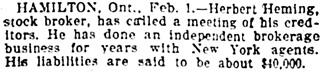 Buffalo Evening News (Buffalo, New York), February 1, 1906, page 12, column 4.