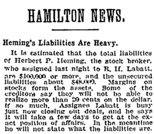 Toronto Globe, February 3, 1906, page 4, column 5 [selected portions].