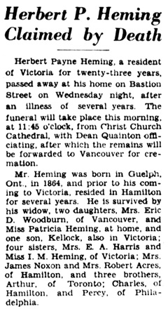 Victoria Daily Colonist, October 14, 1932, page 5, columns 6-8; https://archive.org/stream/dailycolonist193unse_wo1#page/n4/mode/1up.