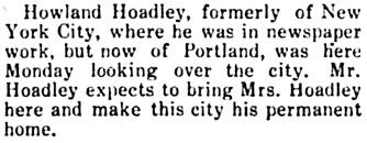 Hood River Glacier (Hood River, Oregon), February 15, 1912, page 9, column 3.
