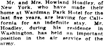The Washington Herald (Washington, District of Columbia), June 23, 1922, page 7, column 4.