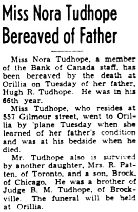 The Ottawa Journal, June 19, 1941, page 12, column 8.