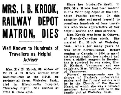 The Winnipeg Tribune, March 22, 1935, page 3, column 3.