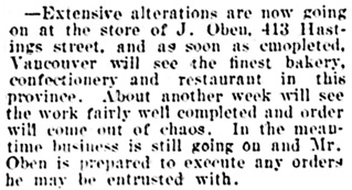 Vancouver Daily World, November 11, 1901, page 8, column 3.