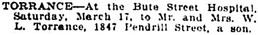 Vancouver Daily World, March 19, 1917, page 12, column 1.