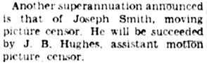 """Victoria Daily Colonist, April 2, 1936, page 2, column 3; http://archive.org/stream/dailycolonist0436uvic_52#page/n1/mode/1up [refers to """"Joseph Smith"""" rather than """"James.""""]"""