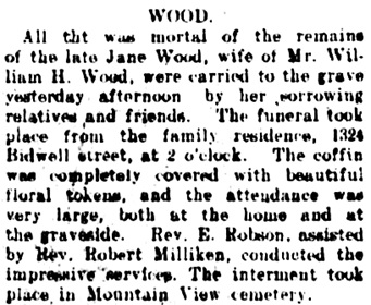 Vancouver Daily World, January 22, 1908, page 4, column 2.