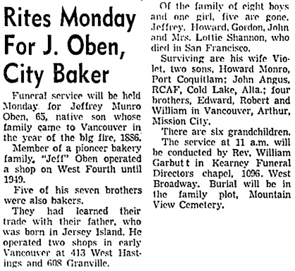 The Vancouver Sun, January 16, 1960, page 3, column 6.