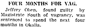Vancouver Daily World, March 22, 1923, page 2, column 3.
