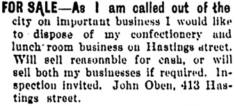 Vancouver Daily World, May 25, 1904, page 9, column 1.