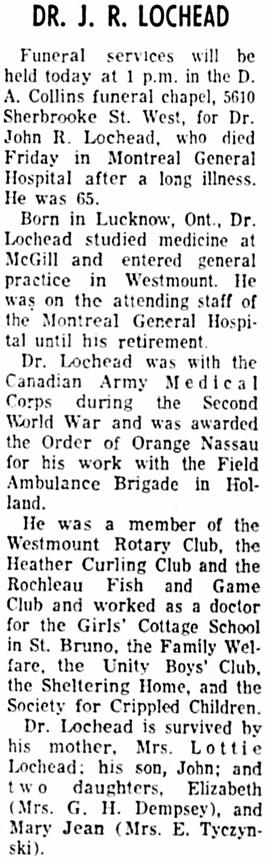 The Gazette (Montreal), September 26, 1966, page 44, column 8.