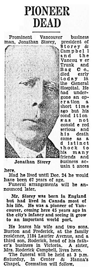 Vancouver Sun, December 13, 1934, page 22, column 3.
