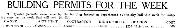 Vancouver Daily World, May 17, 1913, page 14, columns 4-6 (selected portions).