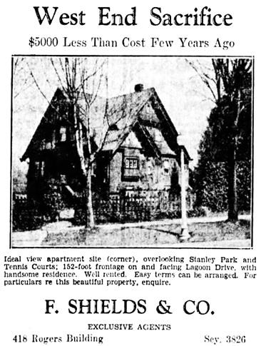 Vancouver Sun, April 19, 1930, page 23, columns 2-3.