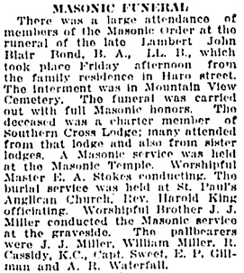 Vancouver Daily World, October 16, 1915, page 7, column 2.