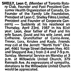 Toronto Globe and Mail, April 25, 1987, page A20.