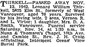 Vancouver Sun, November 13, 1942, page 22, column 2; https://news.google.com/newspapers?id=ojNlAAAAIBAJ&sjid=PYkNAAAAIBAJ&pg=982%2C5390258.
