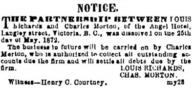 Victoria Daily Colonist, June 16, 1872, page 4, column 3; https://archive.org/stream/dailycolonist18720616uvic/18720616#page/n3/mode/1up.