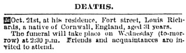 Victoria Daily Colonist, October 22, 1872, page 3, column 1; https://archive.org/stream/dailycolonist18721022uvic/18721022#page/n2/mode/1up.