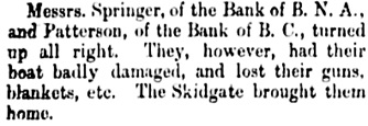 Vancouver Daily World, November 19, 1889, page 4, column 1.